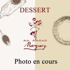 Photo dessert en cours, vente à emporter