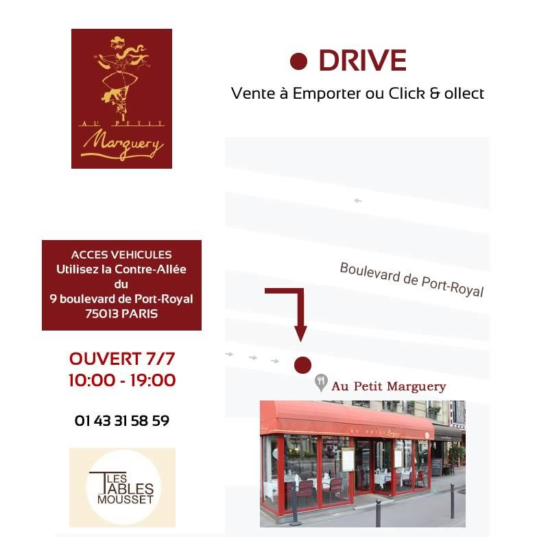 Au Petit Marguery plan d'accès drive