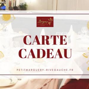 Carte Cadeau - Restaurant Petit Marguery Rive Gauche, à Paris